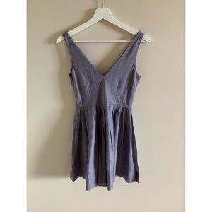 J Crew V-Neck A Line Mini Dress Light Purple/Grey